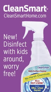 Killing the bad germs doesn't have to wait until the kids are gone. Now you can spray stop germs during the day, before they spread, with a product so gentle you can use it around babies with no rinse required. At WB Mason, Essendant, Amazon.
