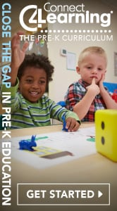 Connect 4 Learning - Close the Gap in Pre-K Connections.