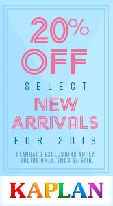 Kaplan - 20% Off Select New Arrivals.