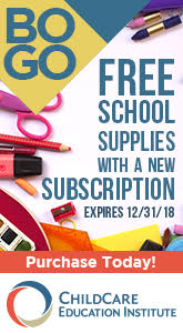 Childcare Education Institute - BOGO Free School Supplies with a New Subscription.