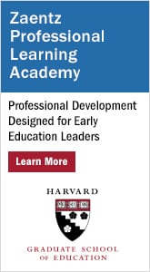 Zaentz Professional Learning Academy - Professional Development Designed for Early Education Leaders.