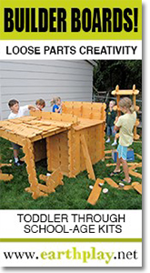 Earth Play - Builder Boards! Loose Play Creativity.
