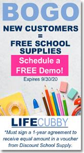 Life Cubby - BOGO New Customers - Free School Supplies.