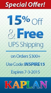 Kaplan – 15% Off Plus Free Shipping!